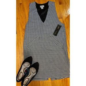 Kim Rogers NWT Sz 6P Houndstooth Sleeveless Dress